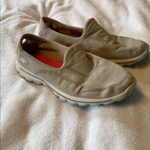 Sketchers Gray Slip On Go Walk Shoes
